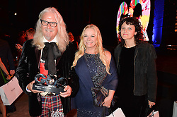 Left to right, BILLY CONNOLLY, PAMELA STEPHENSON and CARA CONNOLLY at the GQ Men of The Year Awards 2016 in association with Hugo Boss held at Tate Modern, London on 6th September 2016.