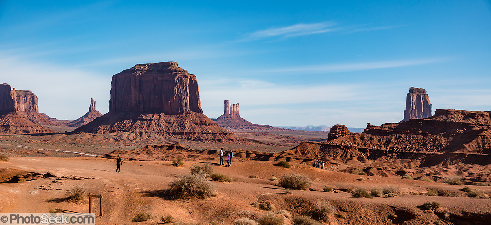 Merrick Butte seen from John Ford's Point. Monument Valley Navajo Tribal Park, Arizona, USA. This image was stitched from multiple overlapping photos.