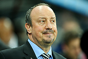 Newcastle United manager Rafael Benitez during the Premier League match between Newcastle United and Everton at St. James's Park, Newcastle, England on 13 December 2017. Photo by Craig Doyle.