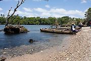 South Pacific, The Republic of Vanuatu, Shefa Provence, Epule River Valley Dugout canoe