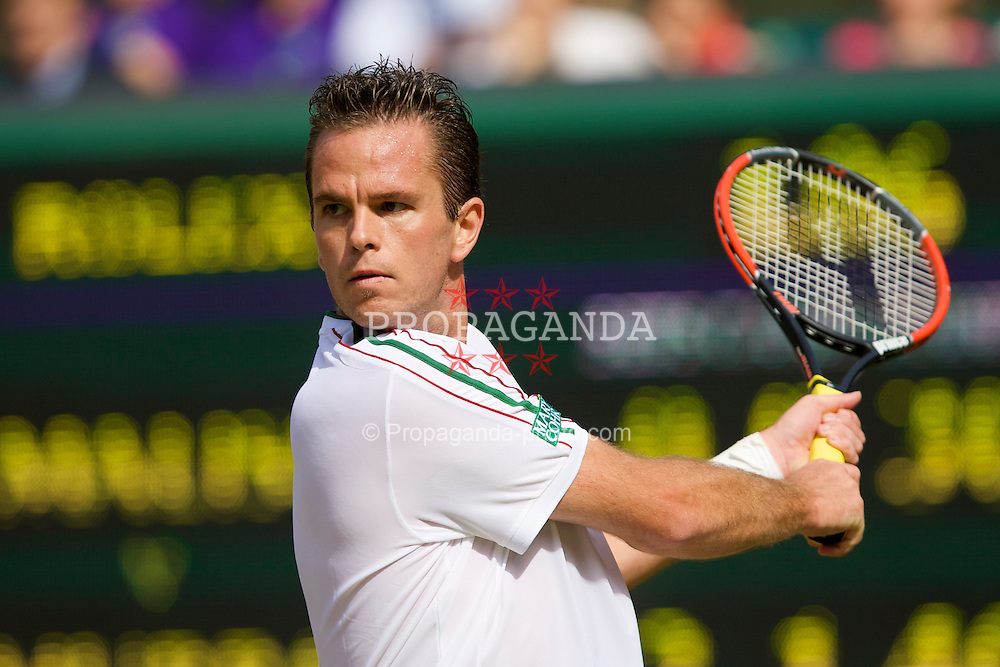 LONDON, ENGLAND - Thursday, June 26, 2008: Xavier Malisse (BEL) during his 2nd round match on day four of the Wimbledon Lawn Tennis Championships at the All England Lawn Tennis and Croquet Club. (Photo by David Rawcliffe/Propaganda)