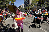 SAN FRANCISCO, CA - JUNE 24 : The Sisters of Perpetual Indulgence take part in the 37th annual LBGT Pride Parade on June 24, 2007 in San Francisco, California. Hundreds of thousands of people lined the streets of San Francisco to watch and take part in the parade.  (Photograph by David Paul Morris)