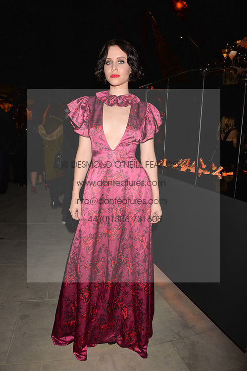 Billie JD Porter at the Veuve Clicquot Widow Series launch party curated by Carine Roitfeld and CR Studio held at Islington Green, London England. 19 October 2017.