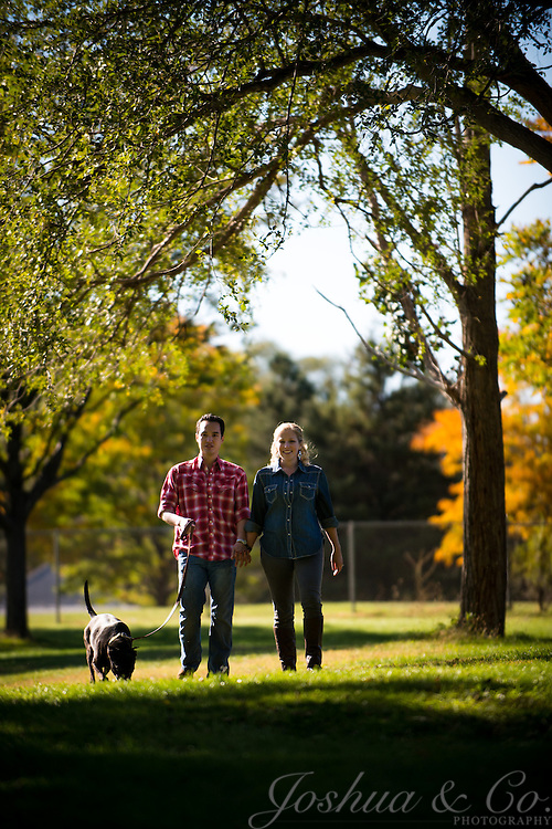 James Fitzgerald and Cara Housman's engagement session photos in Pueblo, Colorado on Oct. 7, 2012.