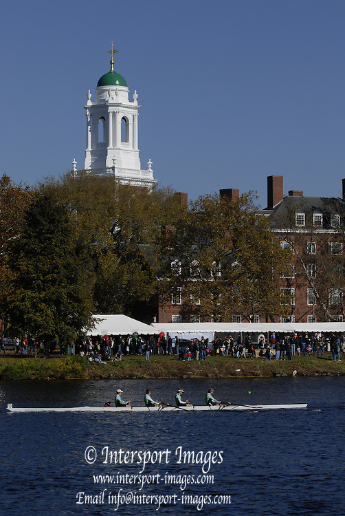 Boston, Massachusetts,  General views GV's., between the Weeks Footbridge and looking up river towards the Anderson Bridge,  Boston side,  as crews compete in the the Forty second Head of the Charles, 21/10/2006.  Photo  Peter Spurrier/Intersport Images...[Mandatory Credit, Peter Spurier/ Intersport Images] Rowing Course; Charles River. Boston. USA