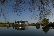 Haddenham Low Farm, View across lake