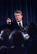 A Jimmy Carter Press conference on January 30, 1978.<br /> Photo by Dennis Brack