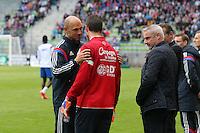 Remy VERCOUTRE / Gerald BATICLE - 09.05.2015 -  Caen / Lyon  - 36eme journee de Ligue 1<br />Photo : Vincent Michel / Icon Sport