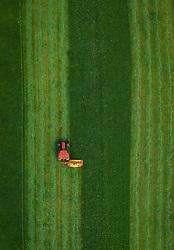 THEMENBILD - ein Landwirt mit seinem Traktor beim mähen einer Weide, aufgenommen am 16. Mai 2019 in Piesendorf, Oesterreich // a farmer mowing a pasture with his tractor in Piesendorf, Austria on 2019/05/16. EXPA Pictures © 2019, PhotoCredit: EXPA/ JFK