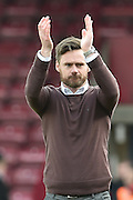 Graham Alexander manager of Scunthorpe Unitedduring the Sky Bet League 1 match between Scunthorpe United and Swindon Town at Glanford Park, Scunthorpe, England on 28 March 2016. Photo by Ian Lyall.