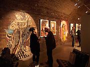 ' Now's the time' Street art exhibition. Black Rat projects. Shoreditch. 20 April 2010