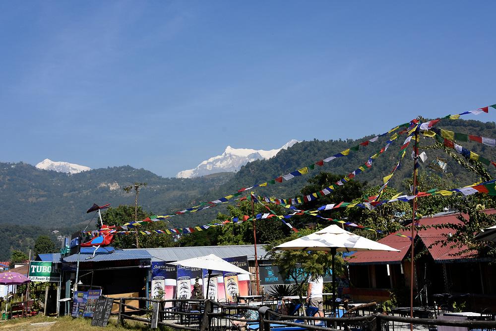 Pokhara lake view and mountains, Nepal