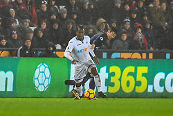 Renato Sanches of Swansea City Tottenham Hotspur Son Heung-Min of Tottenham Hotspur - Mandatory by-line: Craig Thomas/JMP - 02/01/2018 - FOOTBALL - Liberty Stadium - Swansea, England - Swansea City v Tottenham Hotspur - Premier League