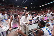 Diana Andrea time out Brescia, EA7 EMPORIO ARMANI OLIMPIA MILANO vs  GERMANI BASKET BRESCIA, gara 1 Semifinale Play off Lega Basket Serie A 2017/2018, Mediolanum Forum Assago (MI) 24 maggio 2018 - FOTO: Bertani/Ciamillo