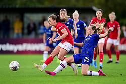 Charlie Wellings of Bristol City is challenged by Erin Cuthbert of Chelsea Women - Mandatory by-line: Ryan Hiscott/JMP - 29/09/2019 - FOOTBALL - SGS College Stoke Gifford Stadium - Bristol, England - Bristol City Women v Chelsea Women - FA Women's Super League
