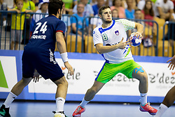 Tim Rozman of Slovenia during handball match between National teams of France and Slovenia in Final of 2018 EHF U20 Men's European Championship, on July 29, 2018 in Arena Zlatorog, Celje, Slovenia. Photo by Urban Urbanc / Sportida
