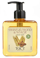 tact sweet almond and wheat liquid soap