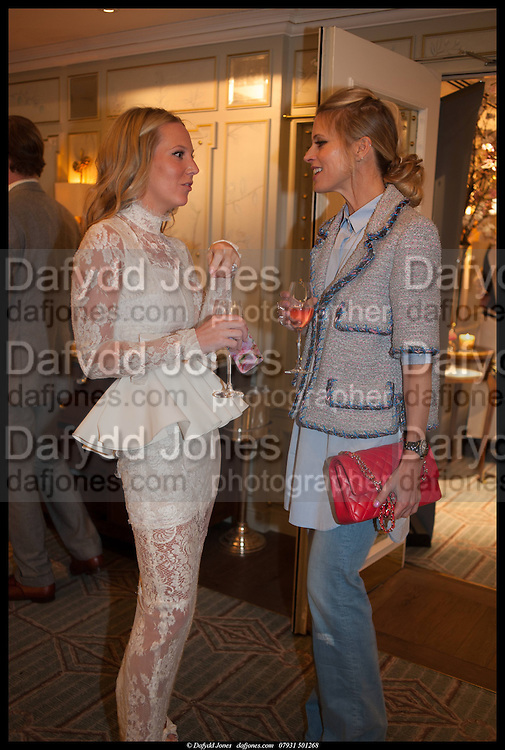 ALICE NAYLOR-LEYLAND; LAURA BAILEY, Alice in her Palace party, Alice Naylor-Leyland launch of her  blog, Alice in her Palace, Drawing Room at Fortnum & Mason. 27 March 2014