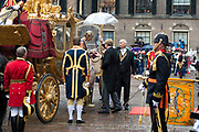 Prinsjesdag - Koninklijke familie in de Gouden Koets<br /> <br /> Budget Day - Royal family in the Golden Coach<br /> <br /> Op de foto / On the photo:  Gouden Koets / Golden Coach