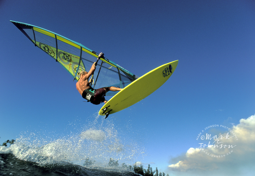 Windsurfing action in Hawaii