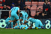 Goal - Salomon Rondon (9) of Newcastle United celebrates scoring a goal to give a 0-1 lead to the away team  during the Premier League match between Bournemouth and Newcastle United at the Vitality Stadium, Bournemouth, England on 16 March 2019.