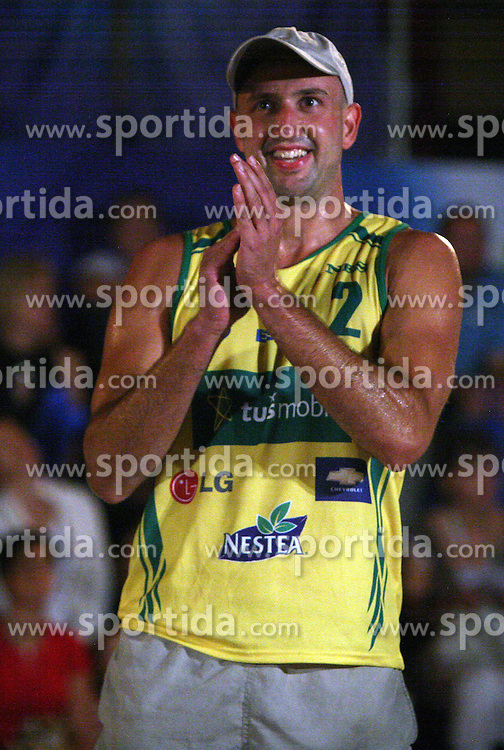 Damir Sabec (Marchiol 1 Team) at qualifications for 14th National Championship of Slovenia in Beach Volleyball and also 4th tournament of series TUSMOBIL LG presented by Nestea, on July 25, 2008, in Kranj, Slovenija. (Photo by Vid Ponikvar / Sportal Images)/ Sportida)