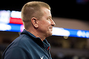 Head coach Tom Westerberg looks on during Allen High School's football state championship community celebration at the Allen Event Center on Wednesday, January 30, 2013 in Allen, Texas. (Cooper Neill/The Dallas Morning News)