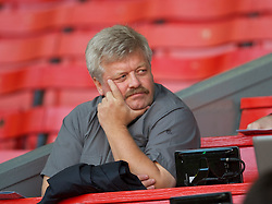 LIVERPOOL, ENGLAND - Wednesday, August 17, 2011: Torbjorn Flatin, editor of the Norwegian magazine the Kopite, watches Liverpool take on Sporting Clube de Portugal during the first NextGen Series Group 2 match at Anfield. (Pic by David Rawcliffe/Propaganda)