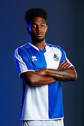 Ellis Harrison of Bristol Rovers poses in the new Home Strip ahead of the 2015/16 Sky Bet League Two campaign - Mandatory byline: Rogan Thomson/JMP - 07966 386802 - 22/07/2015 - SPORT - Football - Bristol, England - Memorial Stadium - Bristol Rovers Kit Launch.