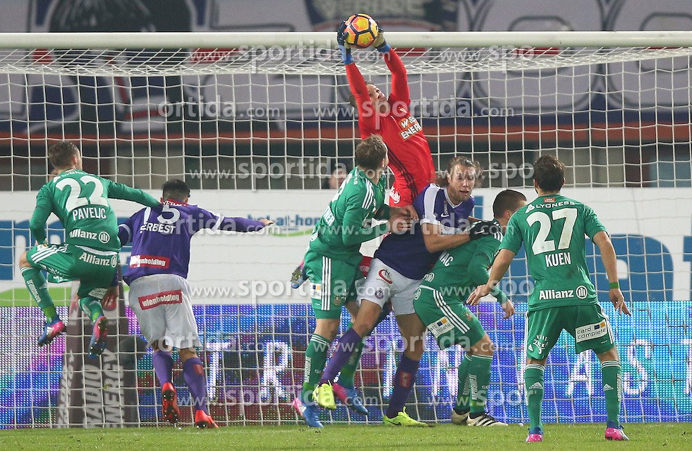 12.02.2017, Ernst Happel Stadion, Wien, AUT, 1. FBL, FK Austria Wien vs SK Rapid Wien, 21. Runde, im Bild Tobias Knoflach (SK Rapid Wien) // during Austrian Football Bundesliga Match, 21st Round, between FK Austria Vienna and SK Rapid Vienna at the Ernst Happel Stadion, Vienna, Austria on 2017/02/12. EXPA Pictures © 2017, PhotoCredit: EXPA/ Thomas Haumer