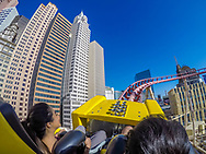 "The ""Big Apple Coaster"" at New York New York."