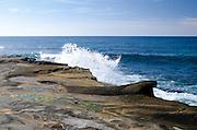 Waves Crashing on the La Jolla Tide Pools