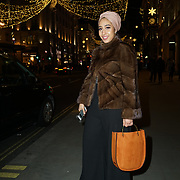 Mariah Idrissi attends the Aspinal of London store on Regent's Street St. James's on December 5, 2017 in London, England.