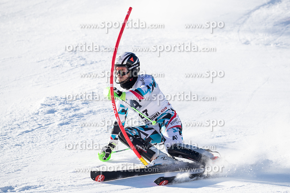 22.01.2017, Hahnenkamm, Kitzbühel, AUT, FIS Weltcup Ski Alpin, Kitzbuehel, Slalom, Herren, 1. Lauf, im Bild Christian Hirschbuehl (AUT) // Christian Hirschbuehl of Austria in action during his 1st run of men's Slalom of FIS ski alpine world cup at the Hahnenkamm in Kitzbühel, Austria on 2017/01/22. EXPA Pictures © 2017, PhotoCredit: EXPA/ Johann Groder