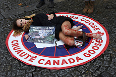 Cassandra Foret Protests Against Canada Goose company - 22 Dec 2017