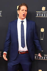 February 2, 2019 - Atlanta, GA, U.S. - ATLANTA, GA - FEBRUARY 02:  Peter Schrager poses for photos on the red carpet at the NFL Honors on February 2, 2019 at the Fox Theatre in Atlanta, GA. (Photo by Rich Graessle/Icon Sportswire) (Credit Image: © Rich Graessle/Icon SMI via ZUMA Press)