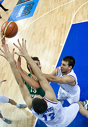 Domen Lorbek (13) of Slovenia during the EuroBasket 2009 Semi-final match between Slovenia and Serbia, on September 19, 2009, in Arena Spodek, Katowice, Poland.  (Photo by Vid Ponikvar / Sportida)