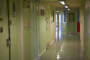 One of the wing corridors at HMP Holloway, the main womens prison in London.