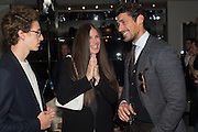 ELIZABETH SALTZMAN; DAVID GANDY, Tom Ford cocktail and preview of Tom Ford's Spring-Summer 2016 Menswear Collection. 201-202 Sloane St. London. 14 June 2015