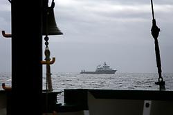 NORTH SEA MYAS 16JUN19 - The BP-chartered offshore supply vessel Havila Venus follows the the Greenpeace ship Arctic Sunrise in the North Sea.<br /> <br /> jre/Photo by Jiri Rezac / Greenpeace<br /> <br /> © Jiri Rezac 2019