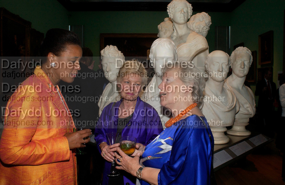 Baroness Scotland. Karin Scherer and Tanja Howarth. Celebration of Lord Weidenfeld's 60 Years in Publishing hosted by Orion. the Weldon Galleries. National Portrait Gallery. London. 29 June 2005. ONE TIME USE ONLY - DO NOT ARCHIVE  © Copyright Photograph by Dafydd Jones 66 Stockwell Park Rd. London SW9 0DA Tel 020 7733 0108 www.dafjones.com