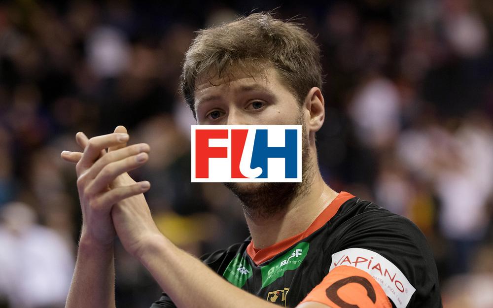 BERLIN - Indoor Hockey World Cup<br /> Men: Poland - Germany<br /> foto: Martin H&auml;ner.<br /> WORLDSPORTPICS COPYRIGHT FRANK UIJLENBROEK