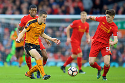 LIVERPOOL, ENGLAND - Saturday, January 28, 2017: Former Liverpool player Conor Coady in action for Wolverhampton Wanderers during the FA Cup 4th Round match at Anfield. (Pic by David Rawcliffe/Propaganda)