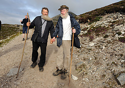 On the pilgrim's path …..Daniel O'Connell from Banagher Co Offaly and Frank Moran from Clonee Leitrim were amoung the many that took part in the annual pilgrimage to Croagh Patrick yesterday.<br /> Pic Conor McKeown