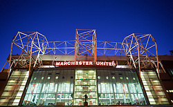 MANCHESTER, ENGLAND - Tuesday, February 3, 2015: An exterior view of Manchester United's Old Trafford Stadium ahead of the FA Cup 4th Round Replay match against Cambridge United at Old Trafford. (Pic by David Rawcliffe/Propaganda)