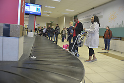 09-07-18 Lanseria Airport. Travellers wait for their luggage at the baggage conveyor belt area at Lanseria Airport. Picture: Karen Sandison/African News Agency (ANA)