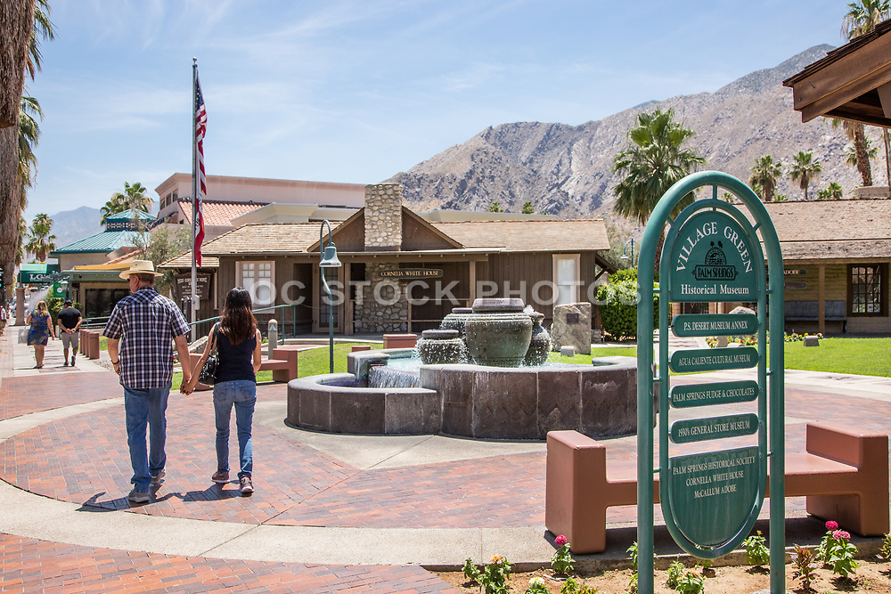Village Green Heritage Center Downtown Palm Springs on Palm Canyon Drive