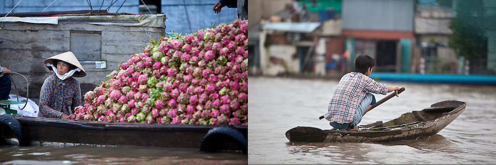 Floating market just upriver from Can Tho, Vietnam.