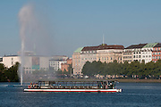 Binnenalster, Schiff, Hamburg, Deutschland.|.Binnenalster, boat, Hamburg, Germany.
