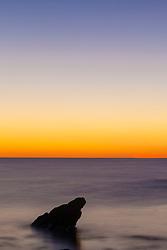 Rock at dawn. Atlantic Ocean, Rye, New Hampshire.